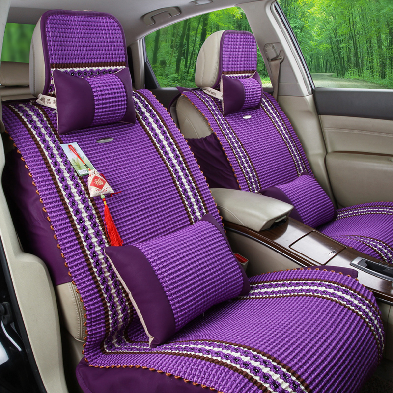 four seasons 5 seats covers for 1 set vehicle seat new summer ice silk design cushion package. Black Bedroom Furniture Sets. Home Design Ideas