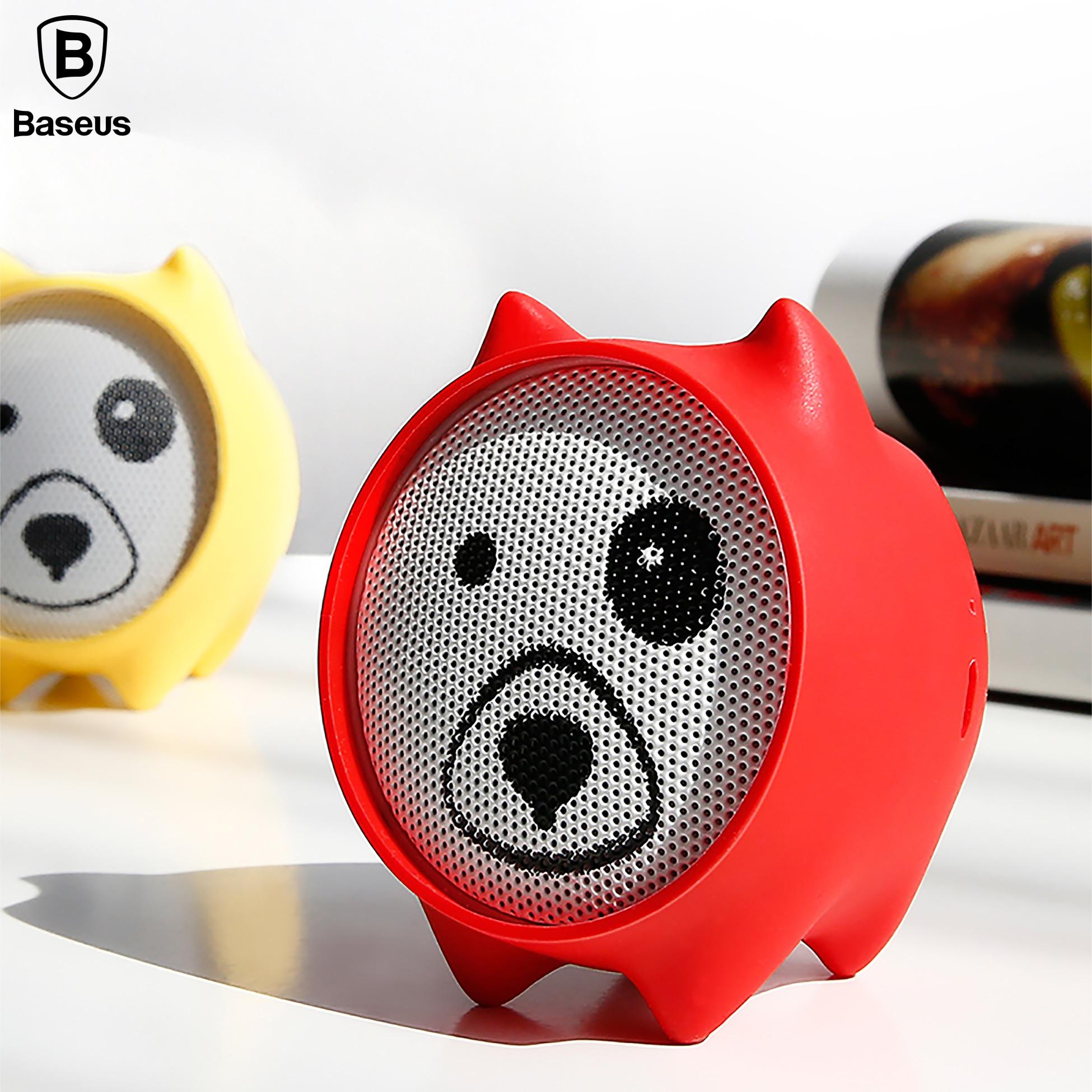 Baseus Dogz Portable Bluetooth Wireless Speaker Stereo Sound Mini Outdoor Speaker MP3 Music Play Loudspeaker For Phone Laptop