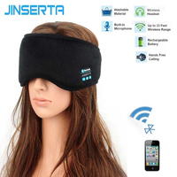 JINSERTA Wireless Bluetooth Earphone Sleep Mask Phone Headband Sleep Soft Headphone Headset For Listenting Music Answering