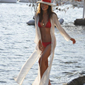 White Plus Size Summer Maternity Swimsuit For Pregnant Women Pregnant Swimwear Long Maternity Cover up Suit LM20