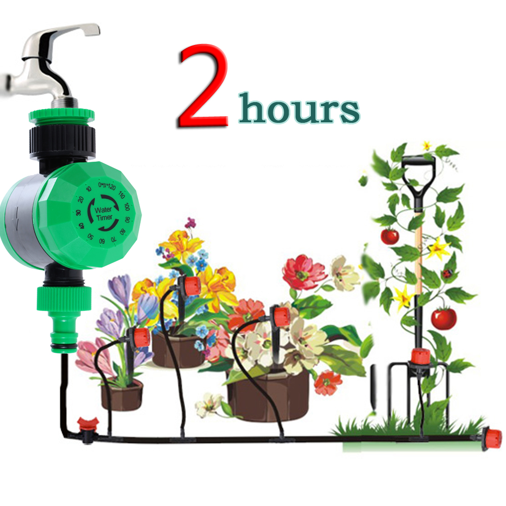 Home Water Timer Waterproof Home Automatic Water Timer Garden Irrigation Controller Watering Mechanical 2 Hours Timer