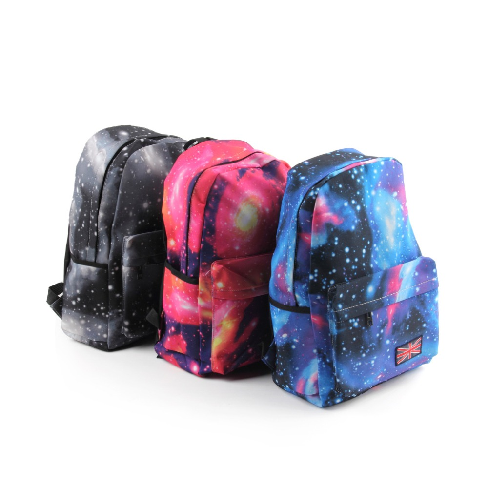 New for Galaxy Pattern Unisex Travel Backpack Canvas Leisure Bags  Waterproof School bag Rucksack Mochila Escolar new anime guilty crown gc canvas backpack school bag satchel rucksack leisure shoulder travel bags gift