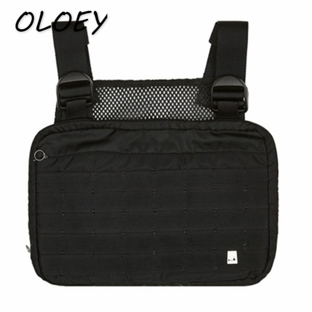 970dd573146b5 US $19.79 37% OFF|Men Tactical Shoulder Bags Chest Rig Bag Hip Hop Alyx  Adjustable Pockets Waistcoat Kanye Streetwear Functional Waist Packs! -in  ...