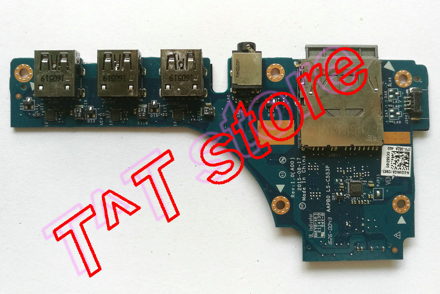 original 7710 USB Audio SD CARD READER BOARD GMNG8 0GMNG8 CN-0GMNG8 LS-C553P test good free shipping шины viatti strada assimetrico v 130 185 60 r15