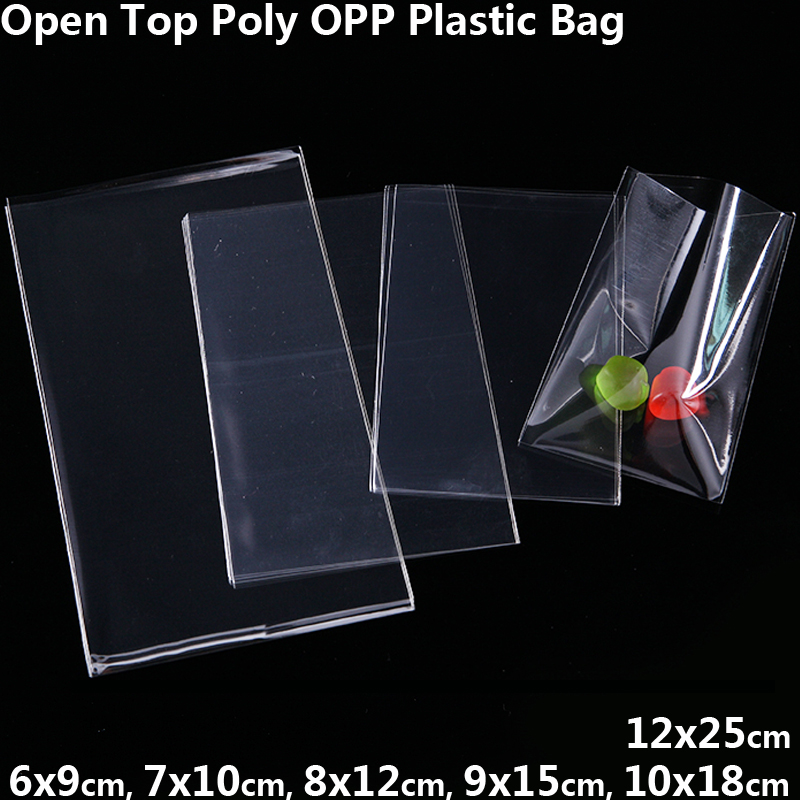 Transparent Poly OPP Bag New Year Wedding Birthday Party Decor Gift Jewelry Packaging Bag Candy Cookie Lollipops Cellophane Bags