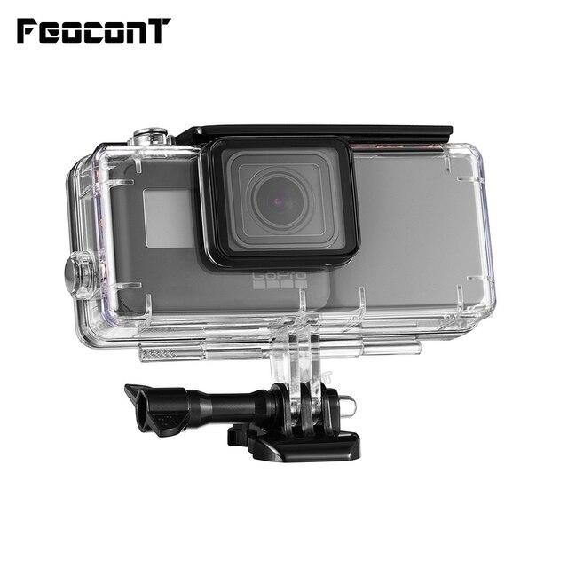 FeoconT الموسعة بطارية ل GoPro 5 الذهاب برو 6 للماء واقية حالة الغوص الإسكان شل مع الجانب قوة البنك