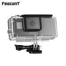 FeoconT batterie étendue pour GoPro 5 Go Pro 6 étui de protection étanche boîtier de plongée coque avec batterie externe latérale