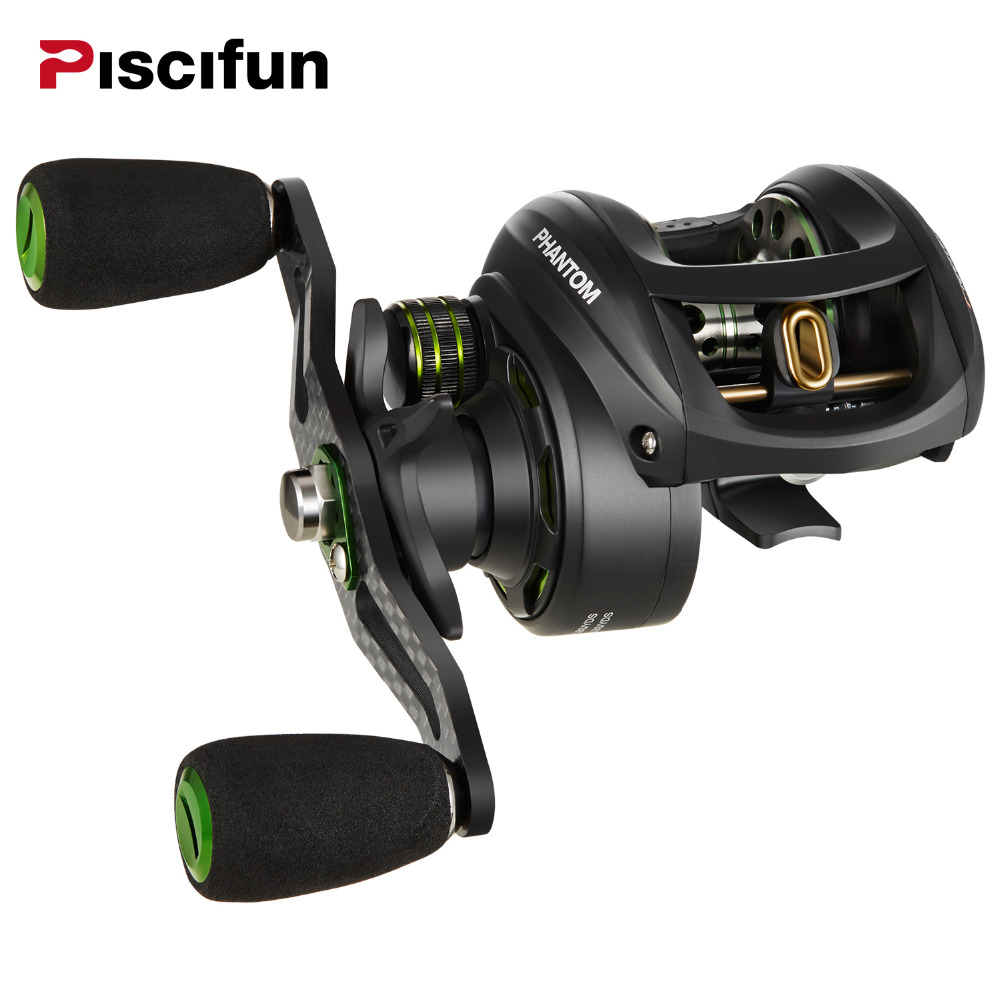 Piscifun Phantom Fishing Reel Carbon Fiber Ultralight 162g Dual Brake 7 7kg Max Drag 7 0