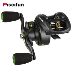 Piscifun Phantom Fishing Reel Carbon Fiber Ultralight 162g  Dual Brake  7.7kg Max Drag 7.0:1 Gear Ratio Lake Baitcasting Reel