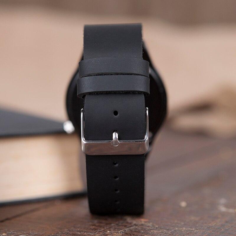 BOBO BIRD V-B12 μαύρο ξύλινο ρολόι Mens - Ανδρικά ρολόγια - Φωτογραφία 6