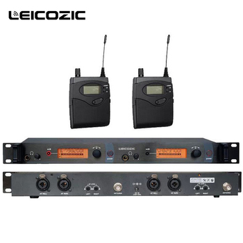 Leicozic In Ear Monitor System 2 Channel stage ear monitors with 2 receiver monitor wireless in ear stage system monitor studio