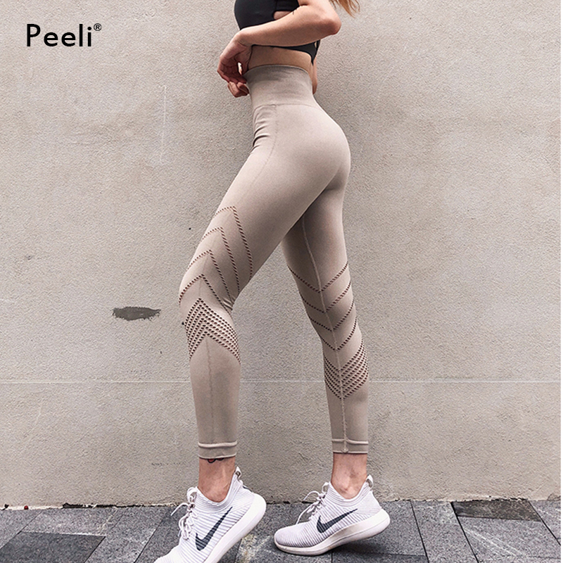 Peeli Sexy Push Up Yoga Pants High Waist Women Fitness Gym Pants Train Energy Seamless Leggings Sports Running Tights Plus Size(China)