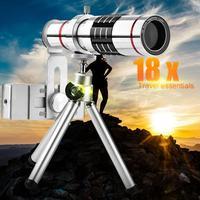 18x Telescope Camera Zoom Optical Cellphone Telephoto Lens Smartphone Camera Lens With Mini Tripod for Android iphone Mini Lens