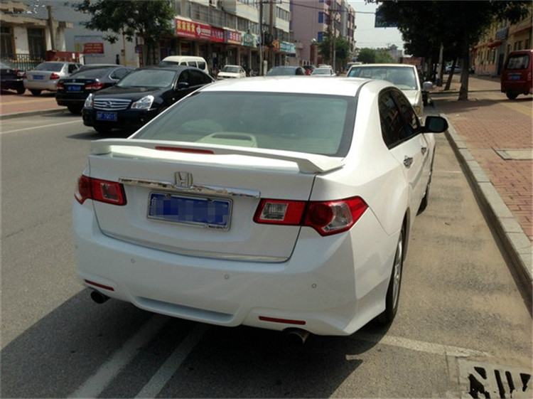 For With Lamp Spirior Acura TSX Spoiler ABS Material Car Rear Wing - Acura tsx spoiler