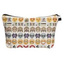 Neue emoji Eintritt handtasche Maleta de Maquiagem Necessaire Partei design wash Makeup Tasche Frauen Organizer kinder Schreibwaren geldbörse