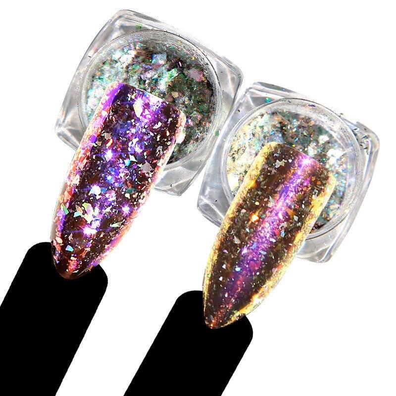 GemäßIgt Beautybigbang 1 Box 0,5g Chameleon Spiegel Nagel Glitters Pulver Diy Nagel Chrom Pigment Staub Maniküre Nail Art Dekoration Werkzeuge Nagelglitzer