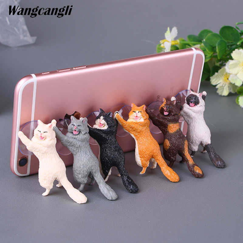 Gato ventosa titular celular móvel para o seu telefone móvel para xiaomi 8 se auto suporte suporte otário para o telefone móvel titular