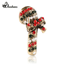 korean style trendy fashion brooches Rose gold.Christmas crutches jewelry  harajuku metal zinc alloy women the pins hip hop gift 7ea41a0599b3