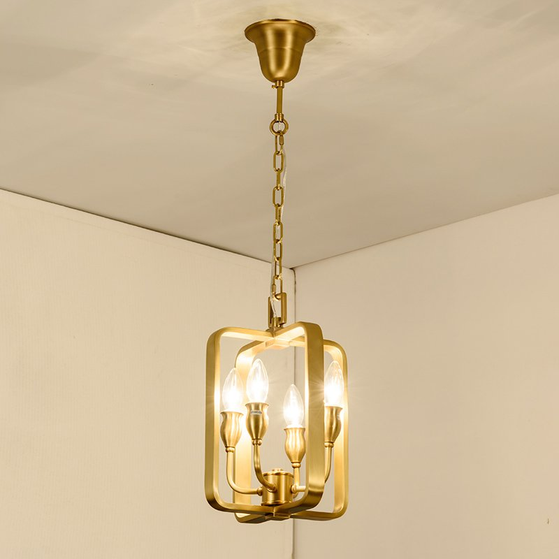 Luxury Copper Dining Room Hanging Pendant light European Modern Bar Counter Pendant Lamp Restaurant Pendant Lighting Fixtures