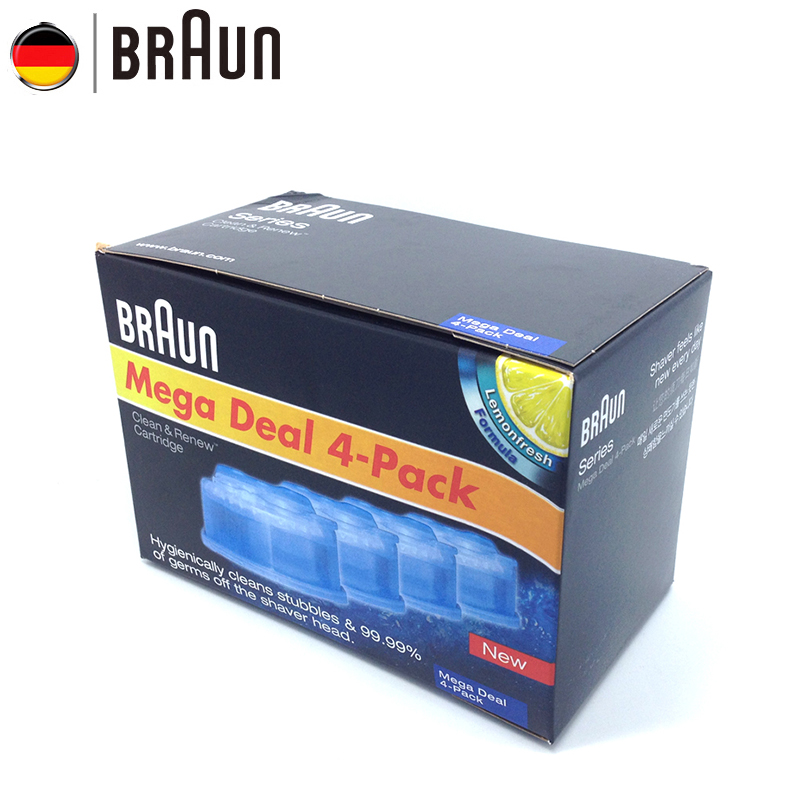 Braun Clean & Renew Cartridge for Bruan Electric Shaver with Automatic Cleaning Center Cleans Stubble & Germ off the Shaver Head