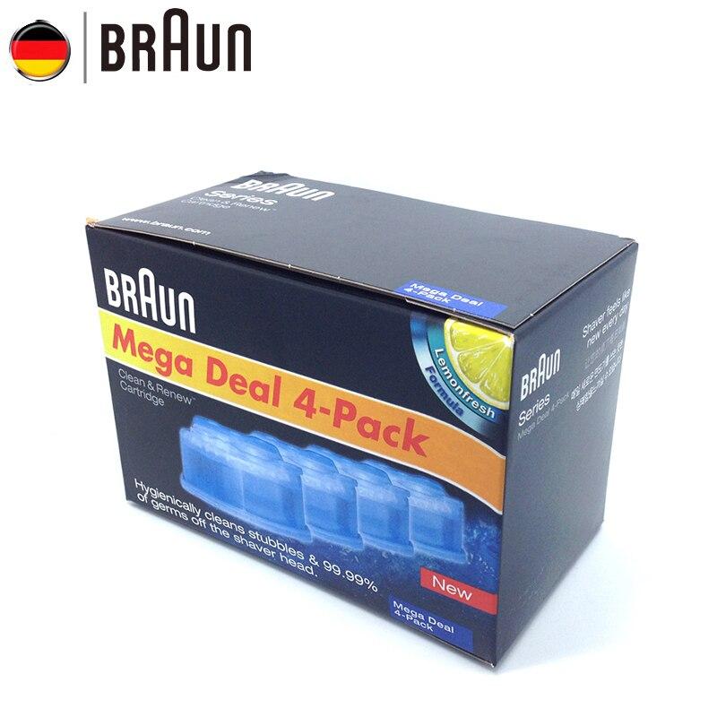 Braun Sauber & Erneuern Patrone für Bruan Elektrische Rasierer mit Automatische Reinigung Center Reinigt Stoppeln & Keim weg von der Rasierer kopf