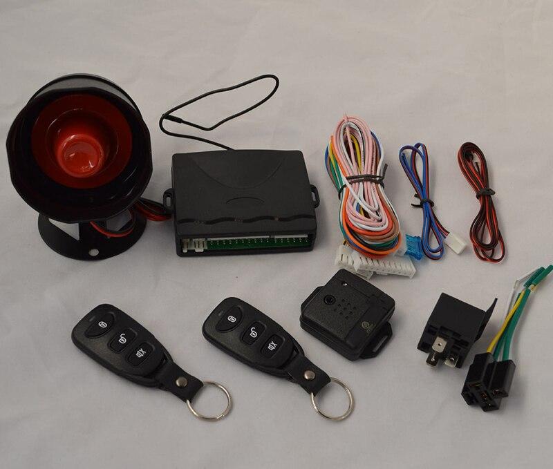 Kit de télécommande centrale serrure de porte alarme de voiture unidirectionnelle alarme anti-vol avec télécommande alarme de Vibration