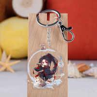 Anime Mo Dao Zu Shi Keychain Cartoon Abbildung Wei Wuxian Lan Zhan Doppelseitige Acryl Schlüssel Ring Cosplay Anhänger