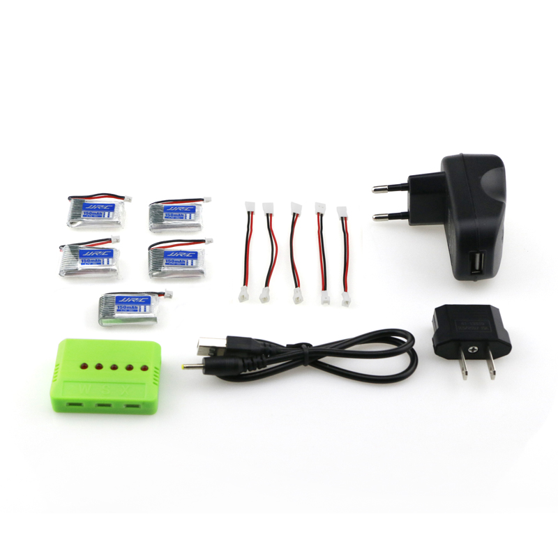JJRC H20 H20H RC Quadcopter Spare Parts 5pcs 3.7V 150mAh 30C Battery with charge Set new arrival jjrc h31 rc quadcopter spare parts 5pcs 3 7v 500mah 30c battery and charger set x5a a13