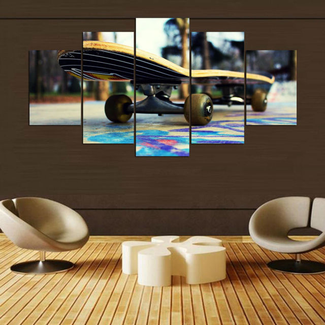 Skate do vintage home decor 5 painel pinturas sobre tela for Sala de estar vintage