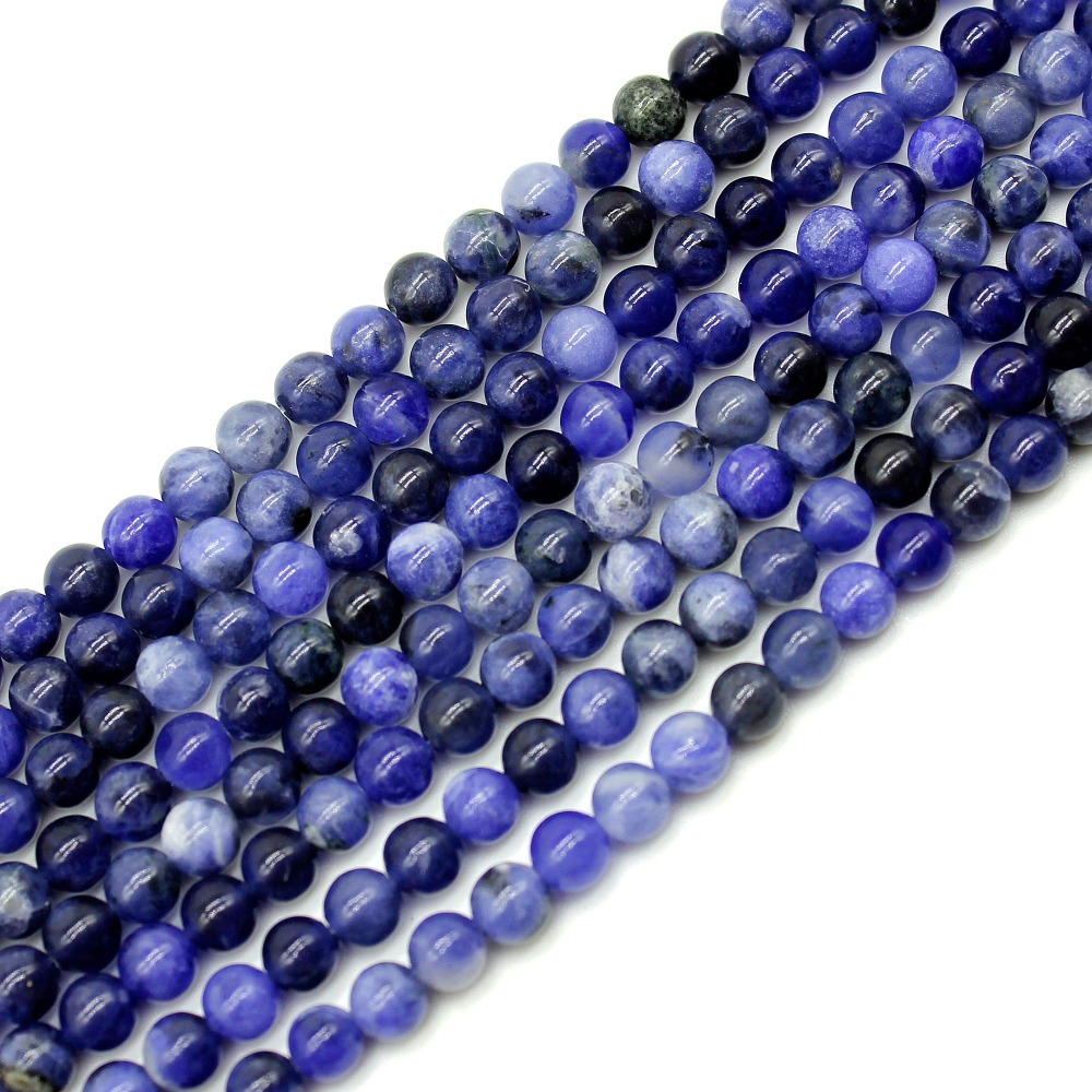 Оптовая продажа, тусклые полированные синие Бусины из натурального камня кальдалита для изготовления ювелирных изделий, материал для брас...