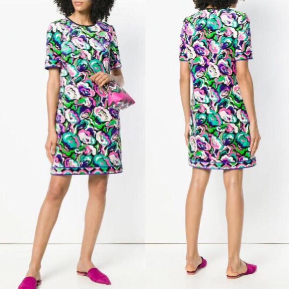새로운 여름 패션 숙녀 고품질 실크 저지 스트레치 니트 슬림 반팔 드레스-에서드레스부터 여성 의류 의  그룹 1