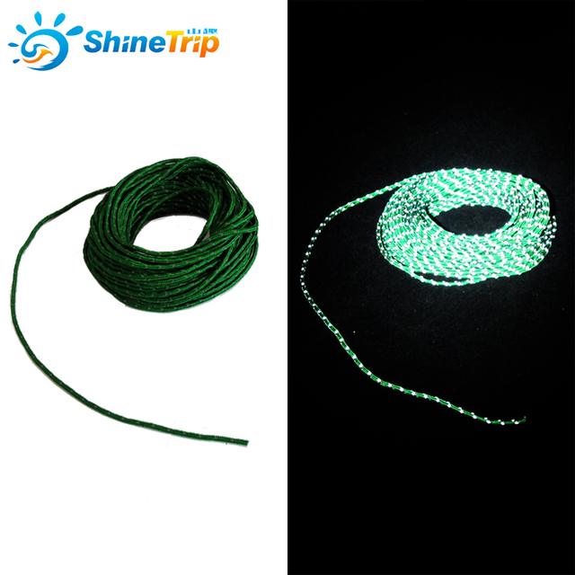 Sky Curtains Wind Rope Reflective Rope 2.5mm diameter 15m long multi-functional Tent Rope Clothesline Tent Accessories