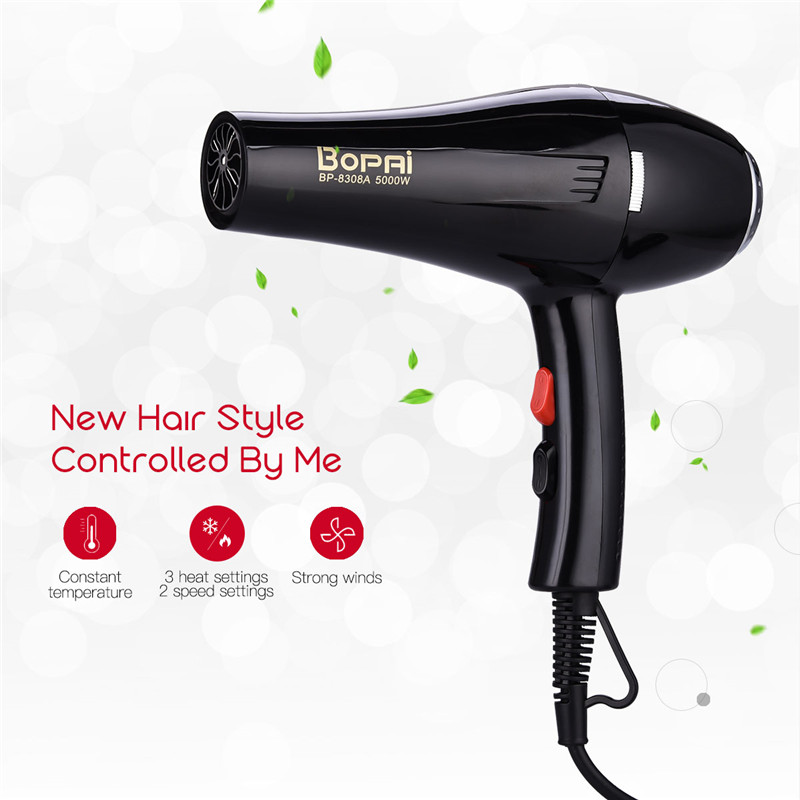 3200w professional powerful salon hair dryer negative ion blow dryer electric hairdryer hot cold wind with air collecting nozzle 5000W Powerful Professional Salon Hair Dryer Negative Ion Blow Dryer Not Hurt Electric Hairdryer Hot/Cold Wind Adjustment S50