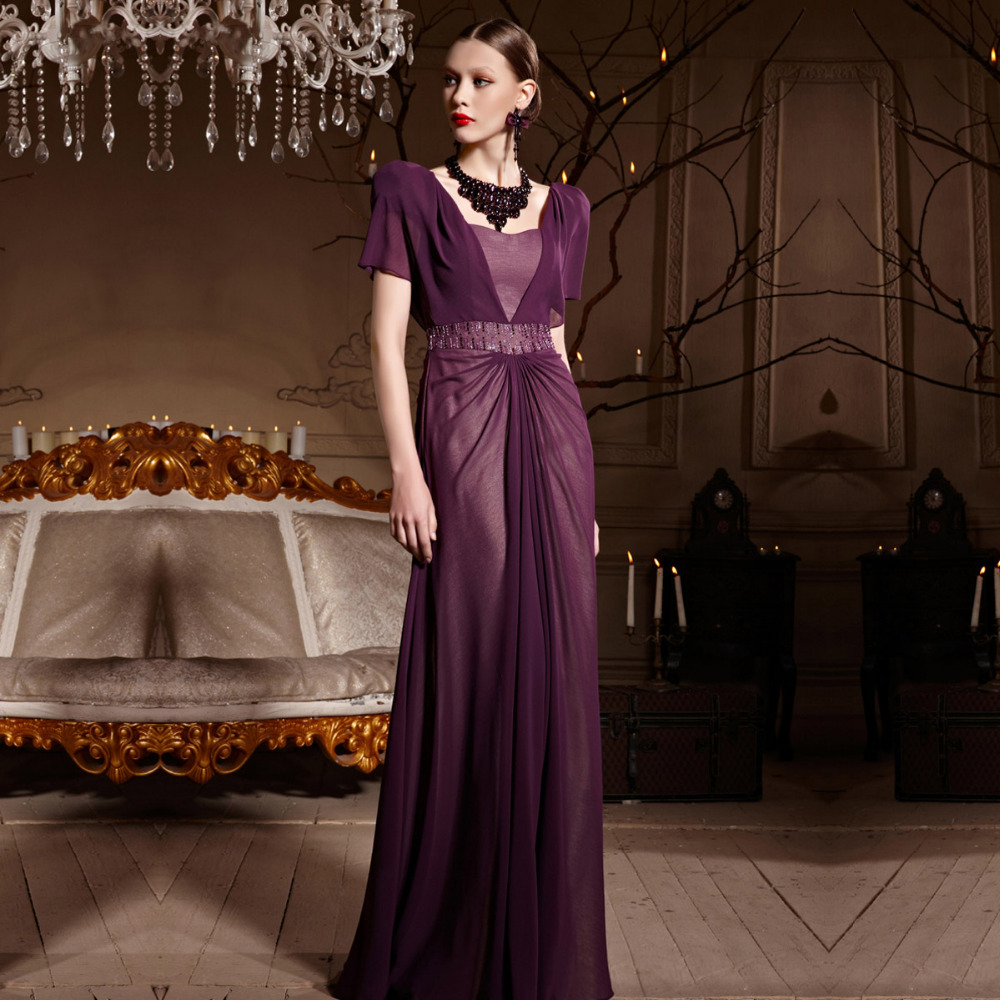 Aliexpress buy coniefox 30619 floor length short sleeve aliexpress buy coniefox 30619 floor length short sleeve backless purple bridesmaids dresses from reliable shipping to mexico ups suppliers on coniefox ombrellifo Image collections
