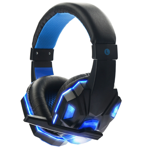 soyto sy830mv gaming headphone headset casque audio auriculares with mic led for ps4 pc gamer. Black Bedroom Furniture Sets. Home Design Ideas