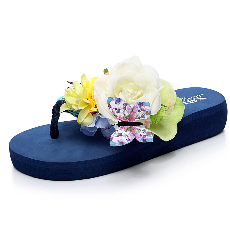 Flip Flops Summer Beach Sandals Shoes Sunglasses Yellow Cotton Fabric w8//28