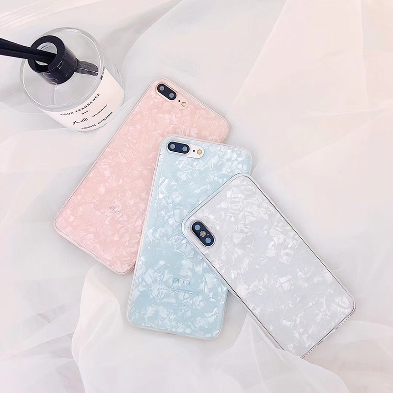 Luxury Colorful Conch Shell Phone Case For iphone 7 Plus Case Fashion Cute Soft Back Cover For Apple iphone X 6 6S 7 8 Plus Case