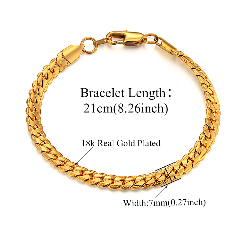 Mens Chain Braclet For Men Jewelry Braslet 2019 Male Gold Color Snake - Fashion Jewelry - Photo 3
