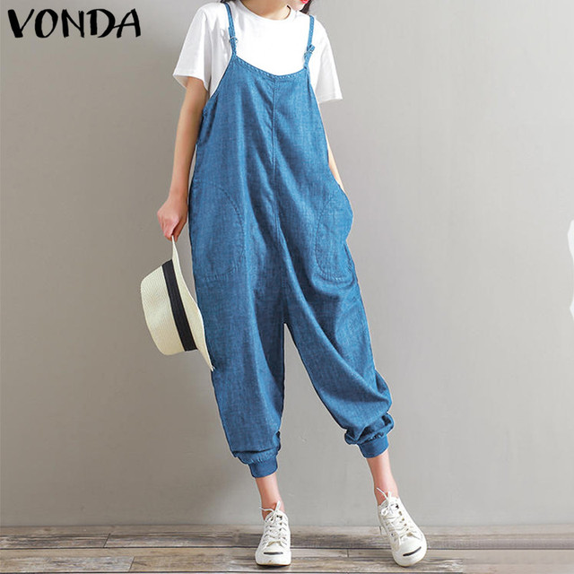 d3f6af46f3d1 VONDA Maternity Clothes 2018 Summer Pregnant Rompers Womens Jumpsuits  Casual Loose Pants Strapless Overalls Pregnancy Playsuits
