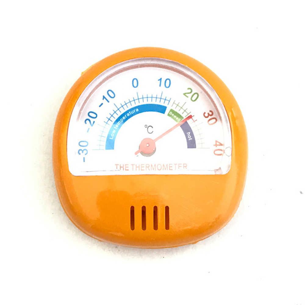 Mini reloj redondo refrigerador portátil congelador Interior Exterior higrómetro termómetro de humedad medidor de temperatura