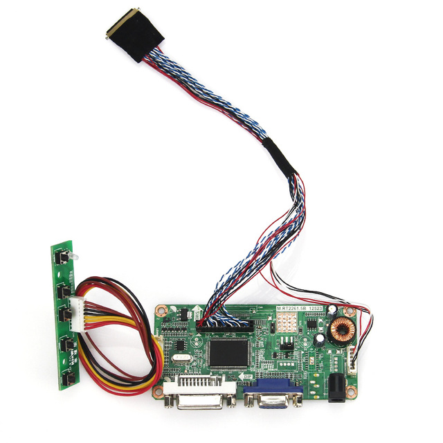 Para LP125WH2 (SL) (B3) (VGA + DVI) M. RT2261 M. RT2281 LCD/LED LVDS Placa Driver Do Controlador Do Monitor Reutilizar Laptop 1366x768