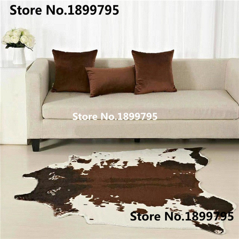 3 Piece 1 Set Wholesale Price For Brown Cowhide Rug 4.6x4.4 Feet (