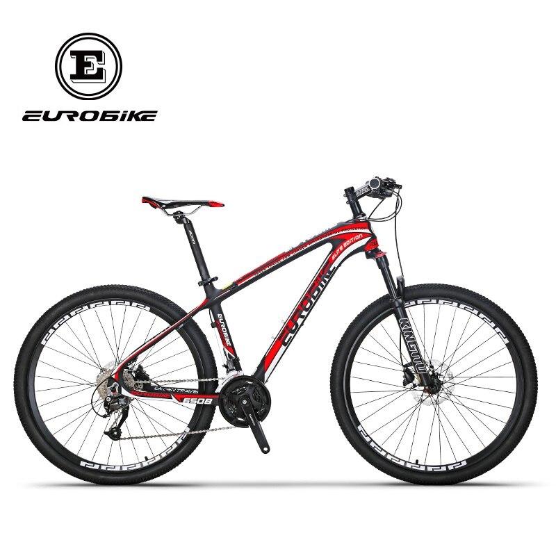 EUROBIKE 27.5 Inches Carbon Fiber Mountain Bikes Dual Hydraulic Disc Brake Shock Fork