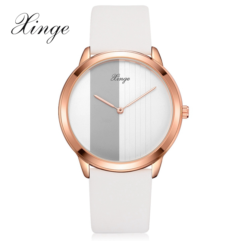 Xinge Brand Men Fashion Rose Gold Watches Business Wrist Watch For Male Leather Dress Mens Quartz Wristwatch Brand Men Watches disu top brand 2017 men watches fashion simple quartz wrist watch business leather strap male sport rose gold dial clock ds039