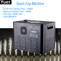 New 2300W Spark Fog Machine 8X6W RGBA 4IN1 LED Stage Lights Cold Spark Fountain DJ Machine DMX/Remote Control Spark Fog Machine