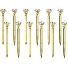 500 Stks/partij Real Big Diamond Balpen Hoogwaardige Mode Business Pen Promotie School Briefpapier Gift Rystal Pen