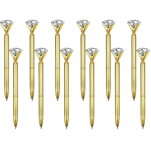 500Pcs/Lot Real Metal Big Diamond Ball Point Pen High Quality Fashion Business Pen Promotion School Stationery Gift  rystal Pen