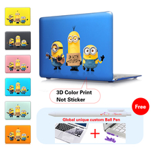 For Mac Professional 13 Air 11 Air 13.three inch Case Print Cartoon Minions Crystal shell Cowl For Apple macbook Professional Retina 12 15 laptop computer bag