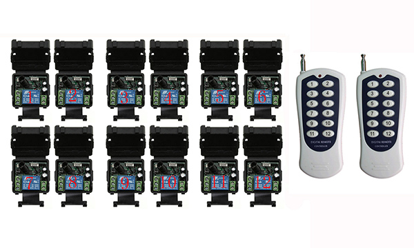 DC 12V 1CH RF Wireless Remote Control Switch System Transmitter+Receiver,315/433 MHZ /lamp/ window/Garage Doors gigabyte ga ep45 ds3l original used desktop motherboard ep45 ds3l p45 lga 775 ddr2 16g sata2 usb2 0 atx