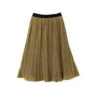 Thời trang Cô Gái lớn Nhung Vàng Váy Chúa Pleated Váy Khoác Kids Màu Xám Trung-bê Váy X-dài Màu Xám váy cho Trẻ em gái